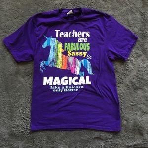 Tops - Unicorn Teacher T-Shirt